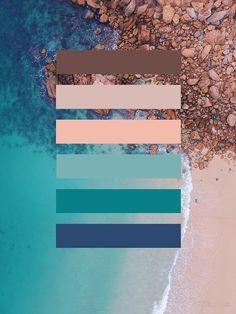 'Strand Farbpalette' by Kilian Luc Colour Pallette, Colour Schemes, Color Combos, Website Color Palette, Pantone, Earth Tone Colors, Earth Tones, Color Psychology Test, Psychology Meaning