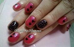 Gel Nails Polish with Nail Art.