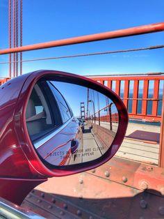 Driving over the Golden Gate Bridge