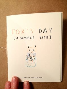 Fox's Day A Simple Life Book by DashaTolstikova on Etsy