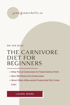 Learn what you need to do to successfully make the switch to the carnivore diet. What does a well balanced diet look like and why do people choose to follow the animal based diet? #carnivorediet #carnivore #jennifermichelleco Rheumatoid Arthritis Diet, Fat For Fuel, Fat Adapted, Body Composition, Healthy Aging, Why Do People, Diets For Beginners, Lean Body, Balanced Diet