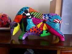 Alphonse Mucha, Decoupage, Paper Mache Crafts, Animal 2, Zodiac Horoscope, Art Education, Ceramic Art, Dinosaur Stuffed Animal, Elephant