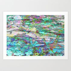 Enlighten Me Art Print by Peta Herbert - $17.00  ❂ ❂ ❂  you can purchase my prints on oversized shirts at: http://printallover.me/collections/petaherbert  http://petaherbert.com.au http://instagram.com/petaherbert http://displate.com/petaherbert http://redbubble.com/people/petaherbert  #abstract #art #painting #blackandwhite #photography #photograph #overlay #blue #aqua #bright #pig #face #animal #animalface #opals #sea #water #ocean #nature #gems #jewels