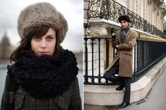 love the combination fur hat & scarf
