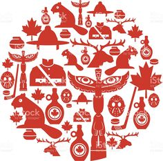 set of Canadian themed icons. Click below for more travel images.