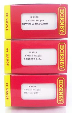 NEW #HORNBY OO  R6588 , R6593 & R6596 - THREE PRIVATE OWNER OPEN GOODS #WAGONS