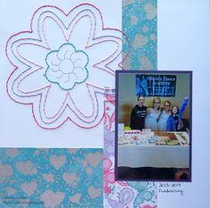 Layout with Stitching | My Scrapbooking Blog