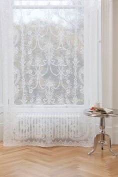 Trend Report: Lace in the Interior-thank goodness, I just pulled out some old lace curtains to hang