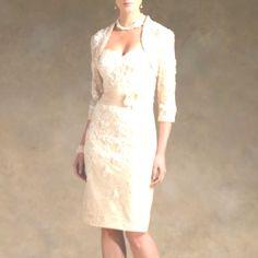 fitted short wedding dress