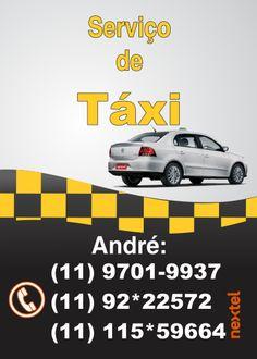 arte propaganda para serviço de táxi