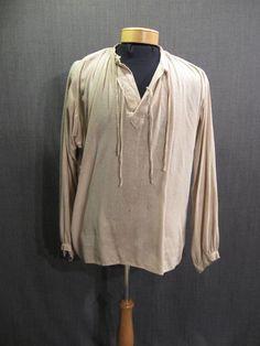 09008300 Shirt Mens Renaissance beige silk Medium.JPG