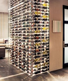 Glass Wine Bottle Accent Wall