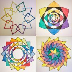 #regolo54 #impossible #geometry #symmetry #pattern #isometric #mathart #triangle #hexagon #touche #ink #mauritiuscorneliusescher #oscarreutersvärd #Escher #mcescher #mandalala #handmade