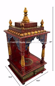 LED Light Home Temple/ Pooja Mandir/ Wooden Temple/ Temple For Home/Mandap  | Mandir | Pinterest