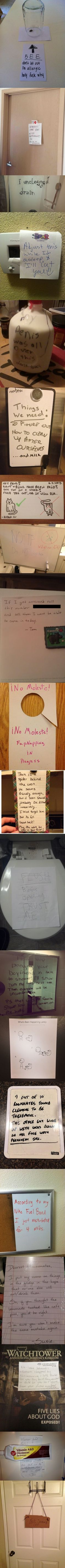Notes from roommates  - funny pictures #funnypictures