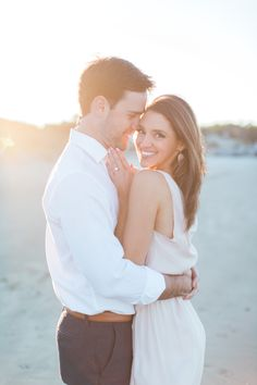 Fine Art Beach Engagement Session » Ava Moore Photography folly beach engagement, sunset engagement, photo session, esession, charleston engagement, wedding photography, revolve dress blush, romantic, pastel, golden hour