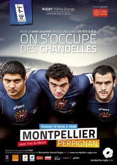 De grands sensibles ces rugbymen... Quand on vous le dit! Top 14, Montpellier, Rugby, Dit, The Mansion, Posters, Rugby Sport