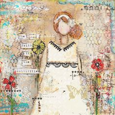 she had faith in the posibilites mixed media original