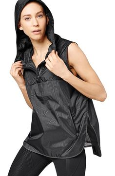 IVY PARK® Reflective Print Hooded Sleeveless Jacket available at #Nordstrom