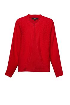 The must-have knit for Spring is here. Our Tasha Knit Cardi comes in our new colour, damsel red and is a slouchy, loose knit style. Pair over a white tee. White Tees, Must Haves, Knitwear, Knitting, Red, Sweaters, Clothes, Color, Style