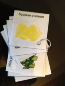 Fun and Easy To Make Relaxation Flip Books. This techniques for anxious little ones to use anytime. Kids had fun practicing these, and it was inexpensive to reproduce the laminated flip books. Its also small enough for you to keep on hand in you purse.