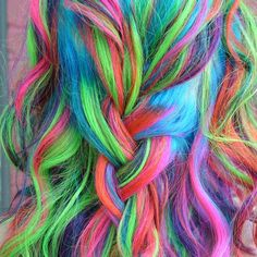 This is just one of a ton of photos of rainbow hair. Stunning work here!