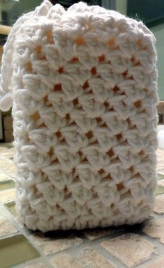 Crochet soap loofah  @Amanda Lewis this might be a nice addition to your soaps. If I get around to making them I'll send one your way