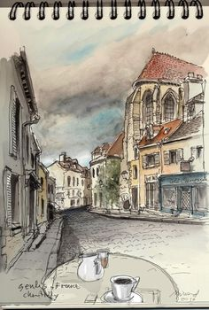 Urban Sketchers: Senlis France by Edgardo Minond