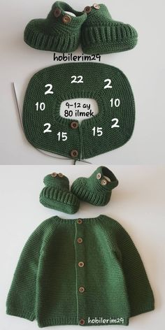 With knitted baby suits you can wear them with your own dress . With knitted baby suits you can wear them with your own dress … – Χάντρες –# Baby suit Baby Boy Knitting, Knitting For Kids, Baby Knitting Patterns, Knitting Designs, Cardigan Bebe, Knitted Baby Cardigan, Diy Crafts Knitting, Crochet Projects, Baby Set