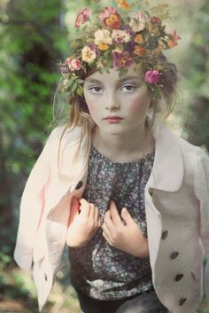 Retro floral styling for NORO girls fashion summer 2015