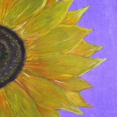 My latest painting   Sunflower Acrylic Painting on Canvas