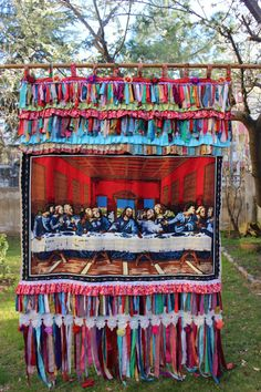 The Last Supper Curtain Gypsy Curtain Fringe by cocomiahome