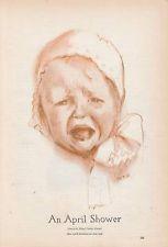 1913 Art Print: An April Shower by Maud Tousey Fangel