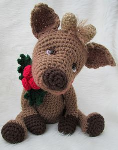 Reindeer Crochet Pattern PDF Format by WoolandWhims on Etsy
