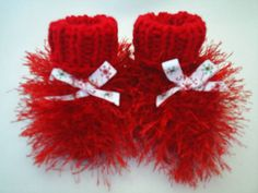 Puff Ball Booties by BestDressedBaby on Etsy, 15.00
