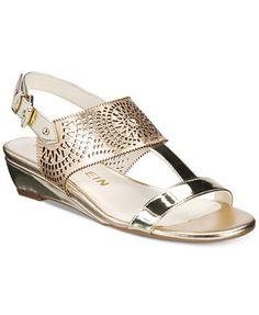 0496c0ac73 Anne Klein Maddie Wedge Sandals & Reviews - Sandals & Flip Flops - Shoes -  Macy's