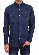 G-Star Herren Jeans Hemd ARC 3D SHIRT blau