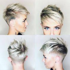 10 shaved haircuts for short hair - Sassy, Edgy & Chic - 10 Rasierte Haarschnitte für kurze Haare – Sassy, Edgy & Chic – Frisuren Modelle 10 shaved haircuts for short hair – Sassy, Edgy & Chic Stylish Short Haircuts, Short Pixie Haircuts, Pixie Hairstyles, Short Hairstyles For Women, Hairstyles 2018, Short Shaved Hairstyles, Undercut Hairstyles, Easy Hairstyles, Short Sides Haircut
