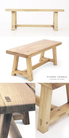 A Pierre Cronje 'Simply Pierre' A-Frame Bench in French Oak - 1200x400x450mm (LxWxH) #WoodworkingBench
