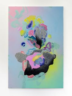 louisezhang: gurl, 2015oil, acrylic, resin, glitter, polyurethane on canvas90 x 60 cm