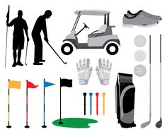 Golf Clip Art Images golf cart clubs bag by VizualStorm on Etsy