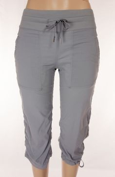LULULEMON Dance Studio Crops Size 4 S Small Gray Pinstripe Unlined Pants #Lululemon #PantsTightsLeggings
