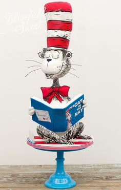 Magnificent Cat In The Hat Birthday Cake made by Blissfully Sweet Cakes