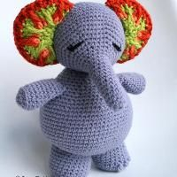 Crochet Elsie the Elephant doll (135) - via @Craftsy