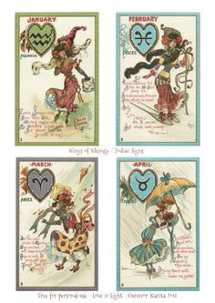 Wings of Whimsy: Zodiac Signs Printable Bunting Page 1- free for personal use