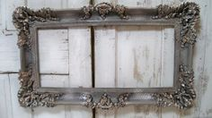 Large vintage frame ornate hand painted by AnitaSperoDesign, $210.00
