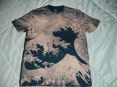 The Great Wave- bleached shirt