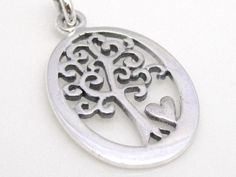 Tree of Life Charm or Pendant with Love Heart by FashionStella2, $14.95