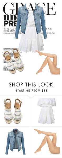 """""""Untitled #515"""" by girl3beauty ❤ liked on Polyvore featuring LoveShackFancy, LE3NO and Falke"""