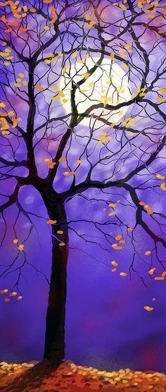 October Night Digital Art by Sharon Marcella Marston